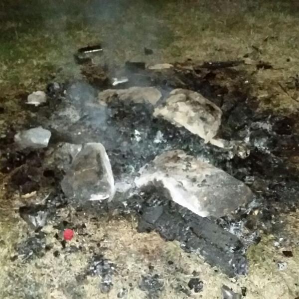 2016-09-04 Zurückgelassenes Lagerfeuer am Neckar