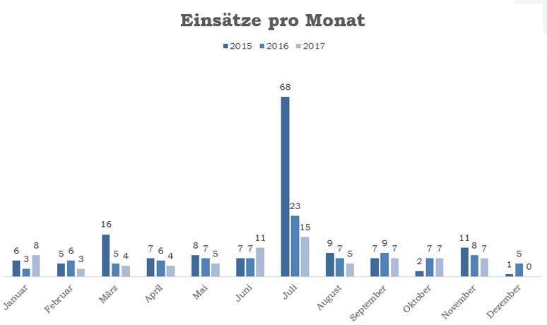 Einsätze pro Monat_Vergleich